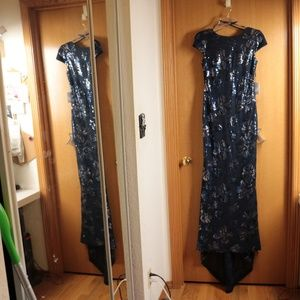 NWT Calvin Klein Full Length Sequin Gown Sz 4
